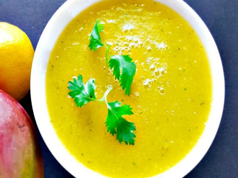 Chilled Mango and Cucumber Soup