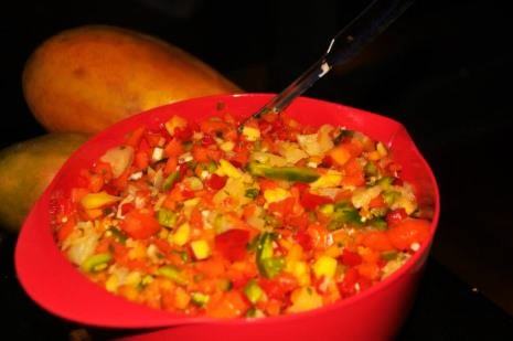 Papaya and Mango Salsa